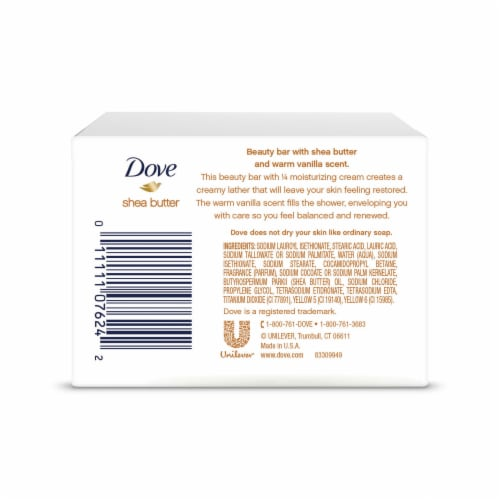 Dove Shea Butter Bar Soap Perspective: back