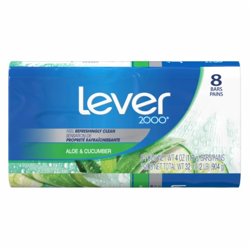 Lever 2000 Aloe & Cucumber Bar Soap Perspective: back