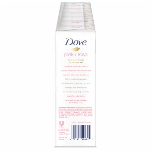 Dove Pink Moisturizing Cream Beauty Bars Perspective: back