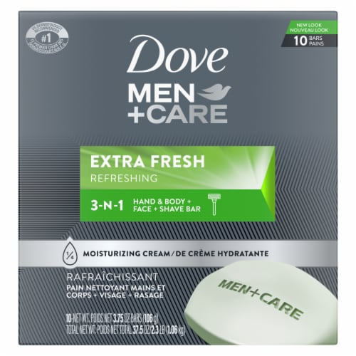 Dove Men+ Care Extra Fresh Body and Face Bars Perspective: back