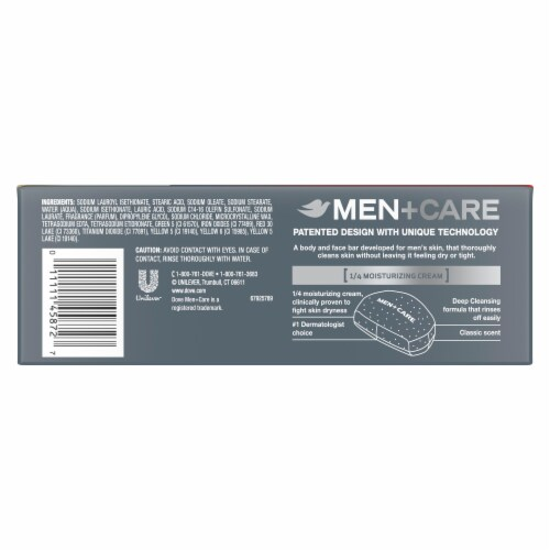 Dove Men + Care Deep Clean Body + Face Bars Perspective: back