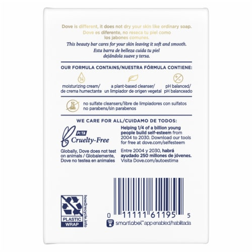 Dove Pink Deep Moisture Beauty Bars Perspective: back