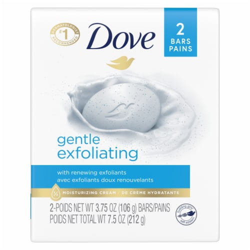 Dove Gentle Exfoliating Beauty Bars Perspective: back