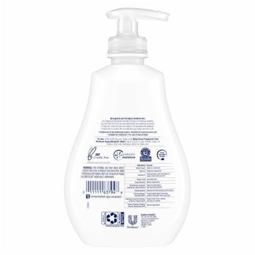Dove Baby Fragrance Free Hypoallergenic Lotion Perspective: back