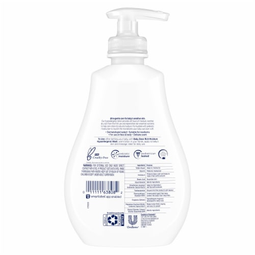 Dove Baby Rich Moisture Hypoallergenic Lotion Perspective: back