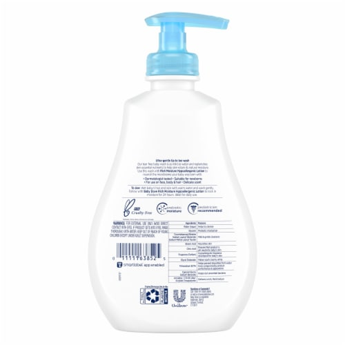 Baby Dove Rich Moisture Baby Wash Perspective: back