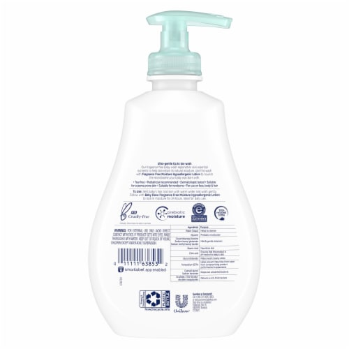 Baby Dove Tip to Toe Sensitive Moisture Baby Wash Perspective: back