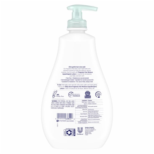 Dove Baby Sensitive Skin Care Hypoallergenic Wash Perspective: back