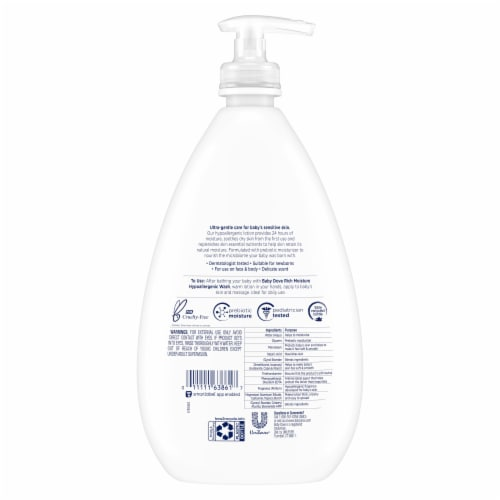 Baby Dove Rich Moisture Sensitive Skin Baby Lotion Perspective: back