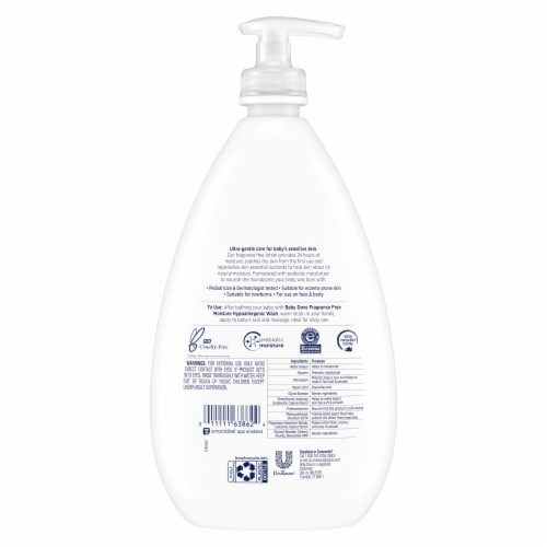Dove Baby Sensitive Fragrance Free Moisture Lotion Perspective: back