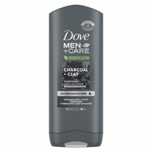 Dove Men + Care Charcoal & Clay Body Wash Perspective: back