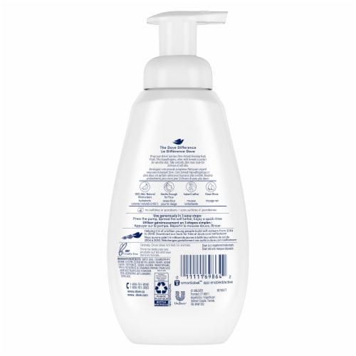 Dove Sensitive Skin Instant Foaming Body Wash Pump Perspective: back