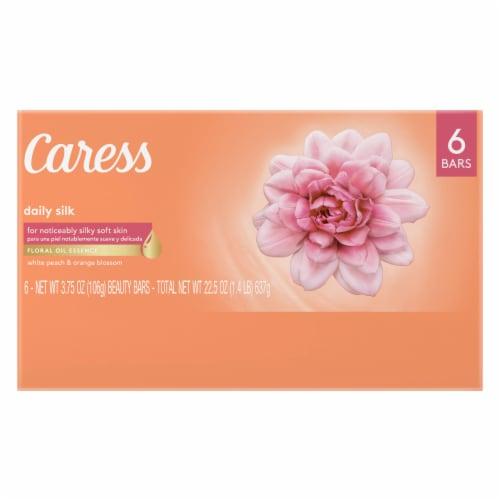 Caress White Peach & Orange Blossom Daily Silk Beauty Bars Perspective: back