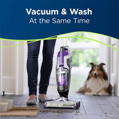 Bissell 2306A CrossWave Pet Pro Multi-Surface Wet Dry Vacuum Cleaner, Purple Perspective: back