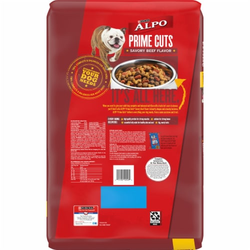ALPO Prime Cuts Savory Beef Flavor Adult Dry Dog Food Perspective: back