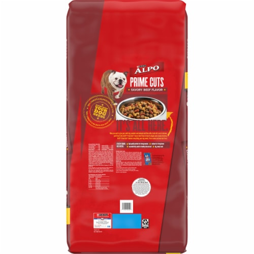 Purina ALPO Prime Cuts Savory Beef Flavor Dry Dog Food Perspective: back