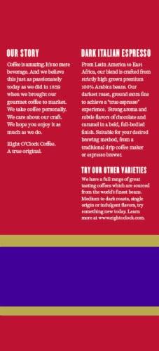 Eight O'Clock Dark Italian Espresso Ground Coffee Perspective: back