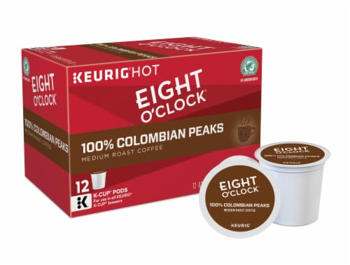 Eight O'Clock 100% Colombian Peaks Medium Roast K-Cup Pods Perspective: back