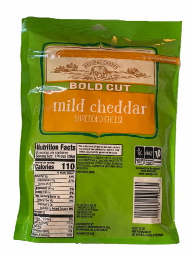 Roundy's® Bold Cut Mild Cheddar Shredded Cheese Perspective: back