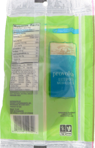 Roundy's Natural Sliced Provolone Cheese Perspective: back