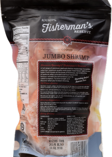 Roundy's Fisherman's Reserve Cooked Shrimp 16/20 per Pound Perspective: back