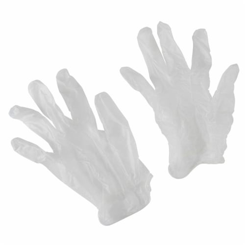Mr. Clean Disposable Cleaning Latex Free Vinyl Gloves 50 Count, One Size (1 Box) Perspective: back