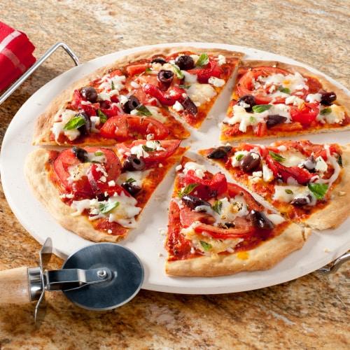 Nordic Ware Pizza Stone 2 PC Set, Tan Perspective: back
