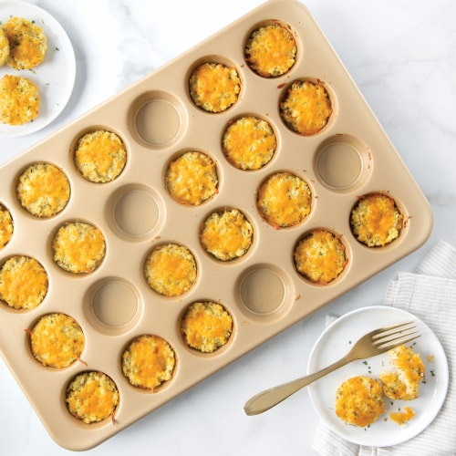 Nordic Ware Natural Aluminum NonStick Commercial Petite Muffin Pan Perspective: back