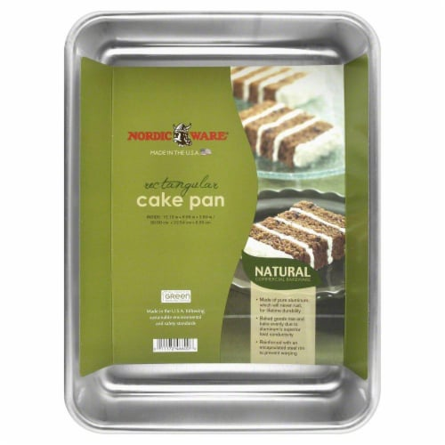 Nordic Ware Cake Pan - Silver Perspective: back