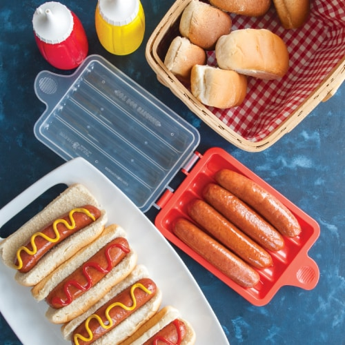 Nordic Ware Microwave Hot Dog Steamer Perspective: back