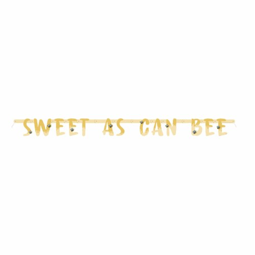 Winnie the Pooh - Happy Honeycomb Party Banner Perspective: back