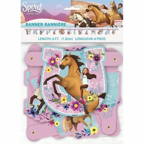 Spirit Riding Free Large Jointed Banner Perspective: back