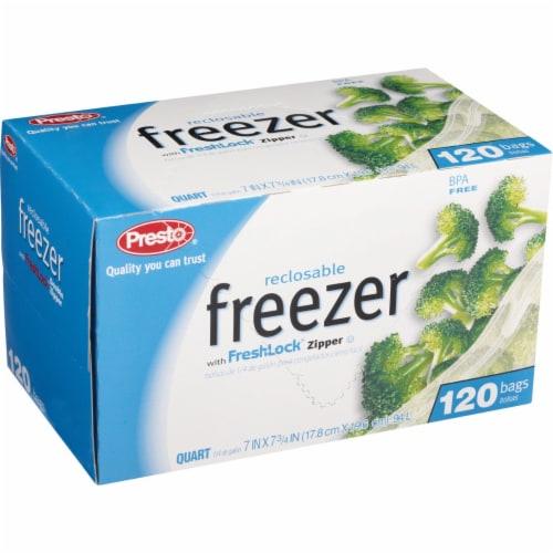 Presto 1 Qt. Reclosable Freezer Bag (120 Count) C00507S0 Perspective: back
