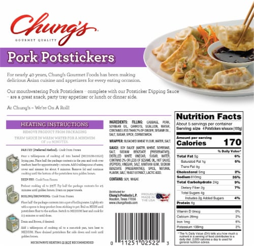 Chung's Pork Potstickers Perspective: back