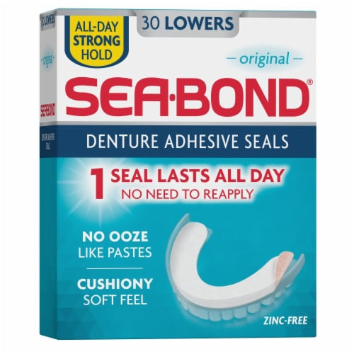 Sea-Bond Denture Adhesive Lower Seals Perspective: back