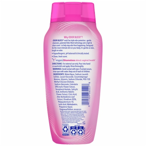 Vagisil Odor Block Dye-Free Daily Intimate Wash Perspective: back