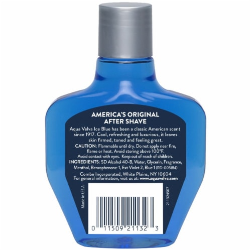 Aqua Velva Classic Ice Blue Cooling After Shave Perspective: back