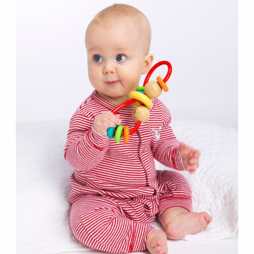 Manhattan Toy Skwinkle Teether and Rattle Activity Clutching Toy Perspective: back