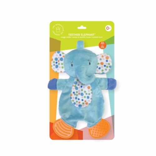 Manhattan Toy Teether Elephant Snuggle Blankie Toy Perspective: back