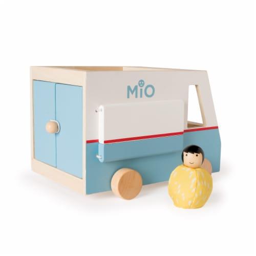 Manhattan Toy MiO Bean Bag People Imaginative Play Character Peg Dolls - Orange & Green Perspective: back