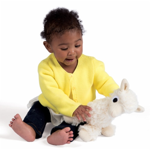"""Manhattan Toy Floppies 7"""" Baby Llama Plush Toy Perspective: back"""