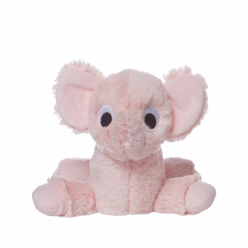 """Manhattan Toy Floppies 7"""" Baby Elephant Plush Toy Perspective: back"""