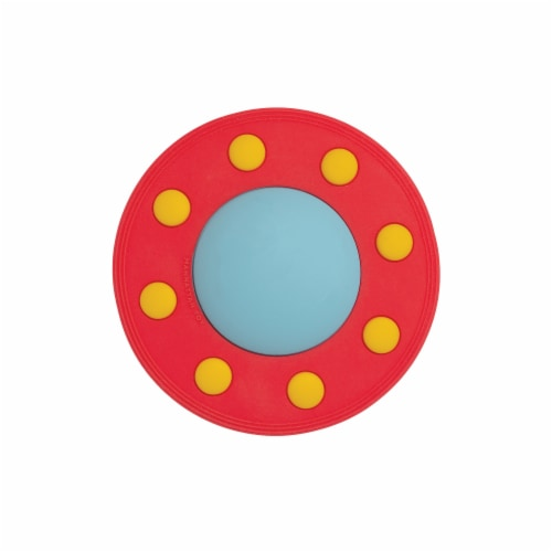 Manhattan Toy Space Themed Flying Saucer Silicone Teether Perspective: back