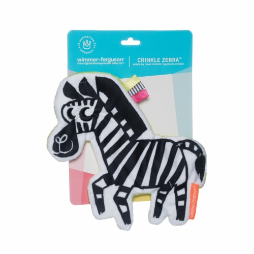 Manhattan Toy Wimmer-Ferguson Crinkle Zebra Baby Sensory Toy with Ribbon Tags Perspective: back