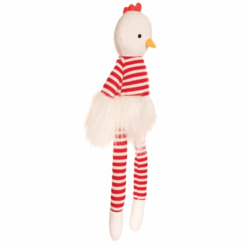 "Manhattan Toy Luxe Twiggies Carl 16.5"" Chicken Stuffed Animal Perspective: back"
