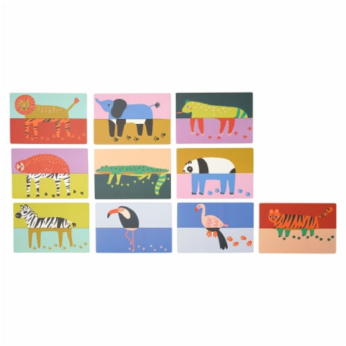 Manhattan Toy Paws & Claws 20 Piece Mix and Match Animals Playset and Toddler Memory Game Perspective: back
