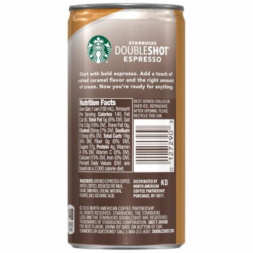 Starbucks Doubleshot Espresso & Salted Caramel Cream Premium Espresso Beverage Perspective: back
