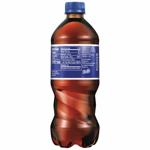 Pepsi Cola Real Sugar Soda Perspective: back