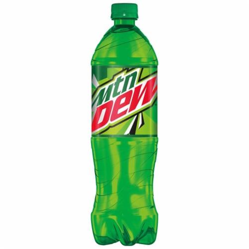 Mountain Dew Soda Bottle Perspective: back