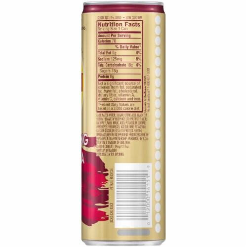 Lipton Sparkling Raspberry Iced Tea Perspective: back